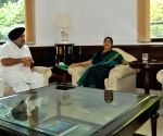 Sukhbir Singh Badal meets Sushma Swaraj