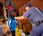 SOUTH AFRICA PRETORIA UNHCR PREMISES REFUGEES REMOVING