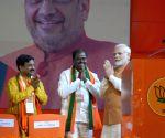 Narendra Modi during BJP rally