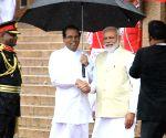 PM Modi's ceremonial reception in Sri Lanka