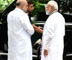 PM Modi, Amit Shah meet Arun Jaitley's family
