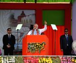 PM Modi dedicates new train line to nation in Tripura