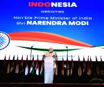 Jakarta (Indonesia): PM Modi addresses the Indian community