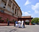 PM Modi arrives to attend the the Monsoon Session of Parliament