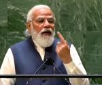 Free photo : Prime Minister Narendra Modi addressing the United Nations General Assembly in New York.