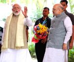 PM Modi, Amit Shah at BJP headquarters