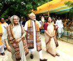 Santiniketan (West Bengal): Modi, Sheikh Hasina, Mamata Banerjee at Santiniketan