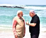 Modi, Netanyahu at Olga Beach