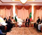 PM Modi, Maldives President Ibrahim Mohamed Solih during a meeting