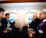 Modi leaves for Kobe aboard bullet train in Tokyo
