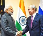 PM visits ship-building facility along with Putin