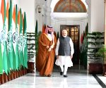 PM Modi meets Saudi Crown Prince at Hyderabad House