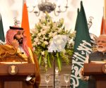 PM Modi, Saudi Crown Prince during joint press meet