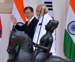 Narendra Modi-Moon Jae-in meeting at Hyderabad House