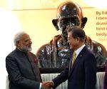 PM Modi, South Korean President unveil bust of Mahatma Gandhi at Yonsei University