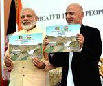 PM Modi, President Ashraf Ghani during joint inauguration of Salma Dam