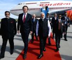 Modi arrives in Netherlands