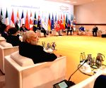 Hamburg (Germany): Narendra Modi at G-20 Leaders' Retreat Meeting