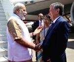 Tashkent (Uzbekistan): PM Modi at Tashkent Airport