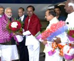 Modi arrives in Hyderabad on two-day visit