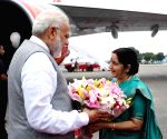 Modi arrives in Delhi after successful three-nation tour
