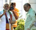 Modi, Shah meet BJP-ruled states' CMs
