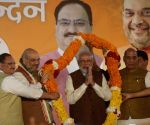 Victory celebrations at BJP Headquarters