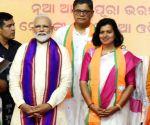 PM Modi at a public rally in Odisha