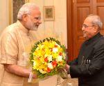PM Modi calls on President Mukherjee