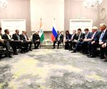 Johannesburg (South Africa): PM Modi meets Russia President