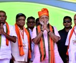 Narendra Modi during a BJP rally