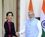 Modi-Kyi meeting at Hyderabad House