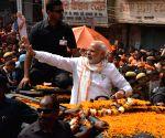 Modi during a rally in Varanasi