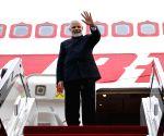Qingdao (China): PM Modi departs for India