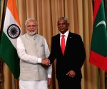 PM Modi with new Maldives President Ibrahim Mohamed Solih