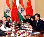 Tashkent (Uzbekistan): PM Modi meets Chinese President Xi Jinping