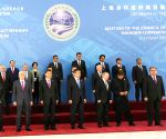 PM Modi with SCO leaders at 2019 Shanghai Cooperation Organization Summit