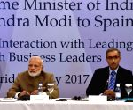 Modi interacts with CEOs of Spanish companies