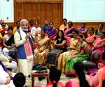 PM Modi meets Anganwadi workers