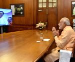 Modi interacts with Mata Amritanandamayi