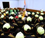 ITBP excursion groups of students from Sikkim and Ladakh meets PM Modi