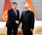 Qingdao (China): PM Modi meets Kyrgyzstan President Sooronbay Jeenbekov