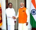 PM Modi meets Sri Lankan President at Hyderabad House
