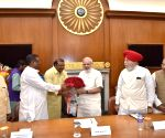 Modi meets the newly inducted ministers