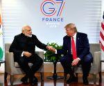 Biarritz (France): PM Modi meets US President
