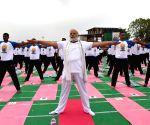 PM Modi celebrates 2nd International Yoga Day
