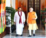 Narendra Modi, Sri Lankan PM at Hyderabad House