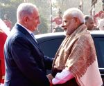 Ceremonial reception for Netanyahu at Rashtrapati Bhavan