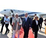PM Modi receives Benjamin Netanyahu at Ahmedabad airport