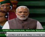 Narendra Modi speaking in Lok Sabha